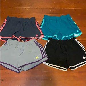 Lot of 4 Adidas Running shorts S